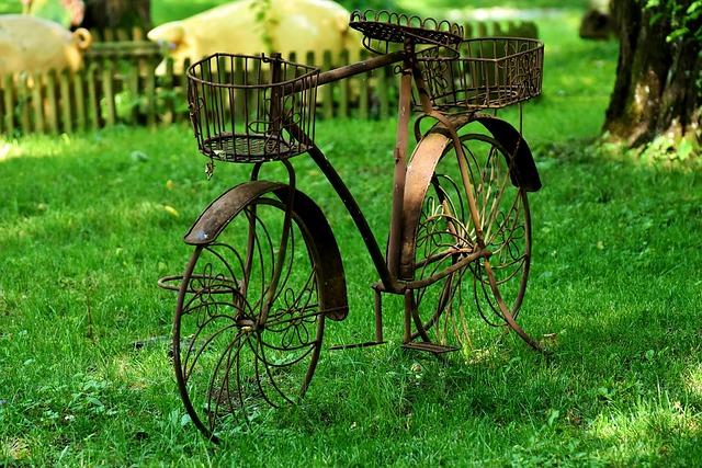 Bike, Decoration, Garden, Sheet, Old, Deco, Art