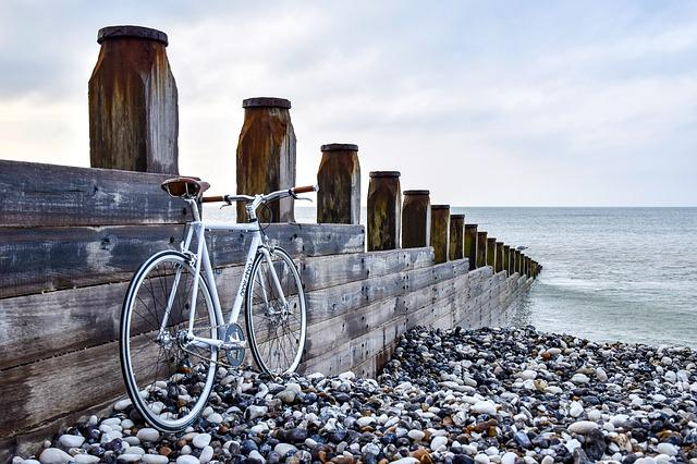 Beach, Bicycle, Bike, Nature, Ocean, Sea, Seashore, Sky