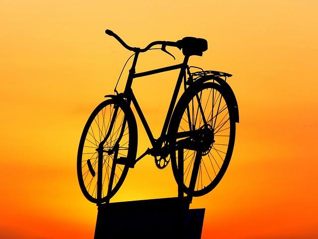 Bike, Sunset, Sky, Abendstimmung