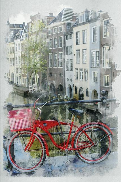 Utrecht, Netherland, Bike, City, Channel, Tourism, Tour
