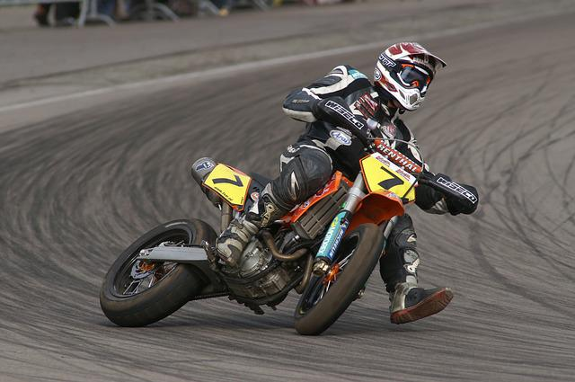Bike, Supermoto, Hurry, Race, Track, Competition, Slide