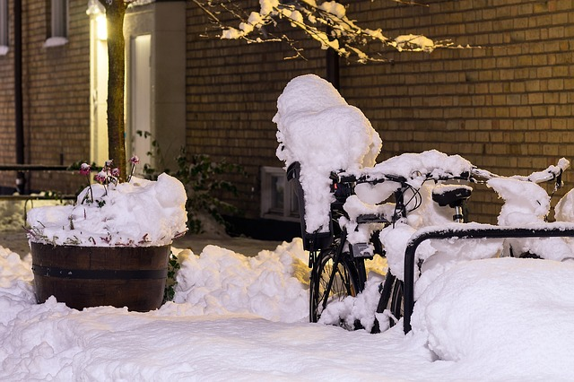 Bicycle, Snow, Covered, Cold, Cycle, Bike, Winter, Ice