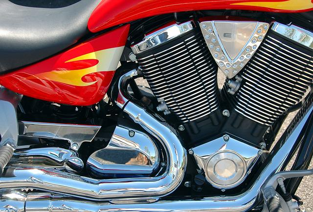Motorcycle Engine, Motorcycle, Chrome, Shiny, Biker