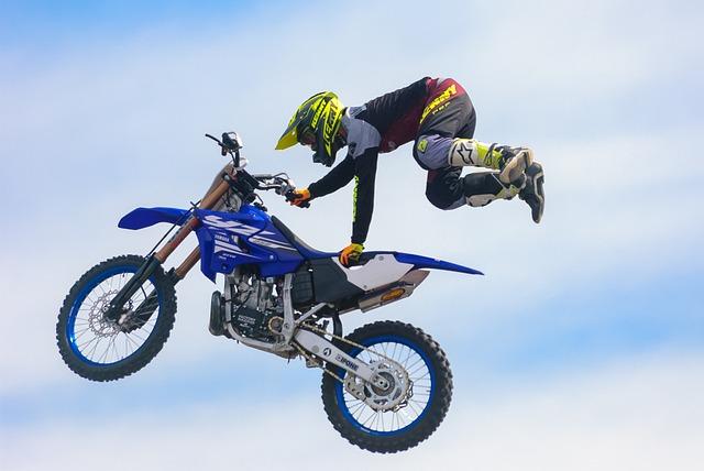Show, Motorcycle, Biker, Stuntman, Cascade, Jump