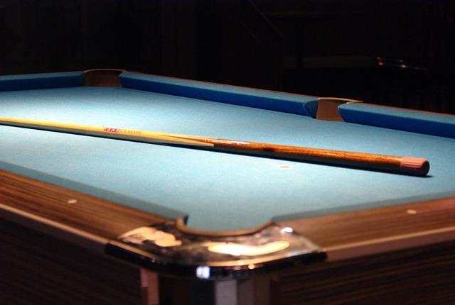 Table, Taco, Billiards