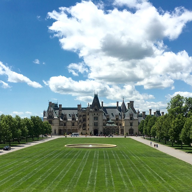 Architecture, Biltmore, North Carolina, Mansion, Sky