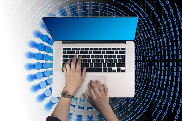 Laptop, Hand, Leave, Binary, Binary Code, Binary System
