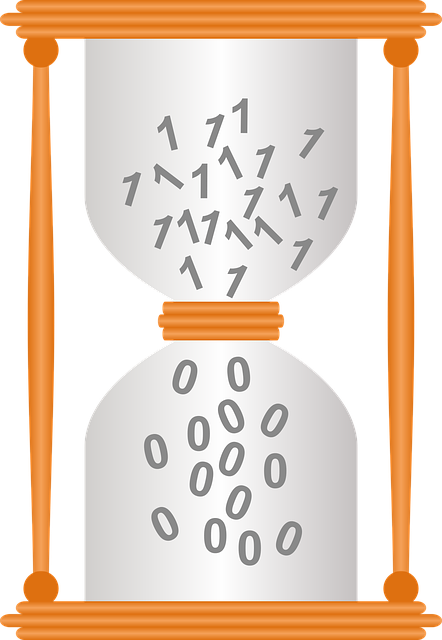 Hourglass, Binary, Transience, Time, Clock, Run Out