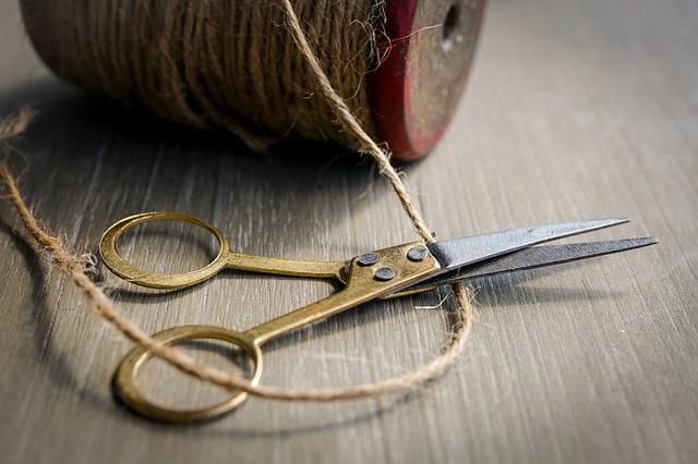 Cord, Hemp Cord, Bind, Scissors, Retro, Cut, Coil