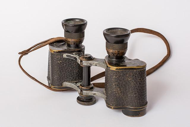 Binoculars, Old, Distant, Nostalgia, Vision