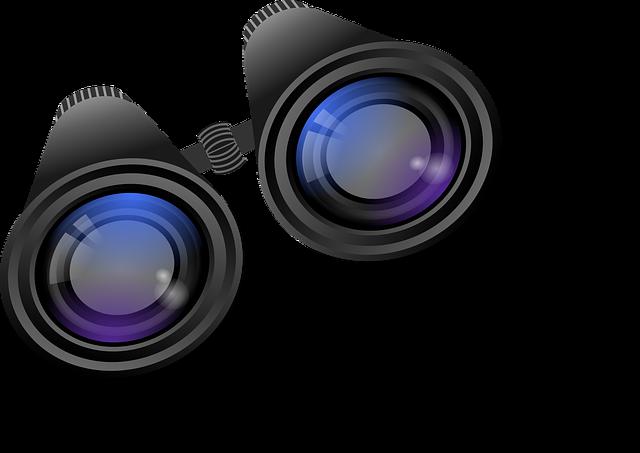 Binoculars, Telescope, Distant View, Optics