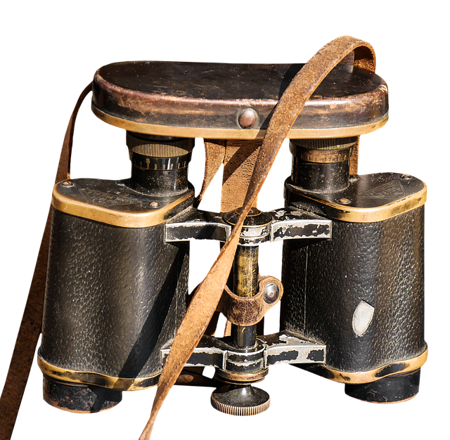 Binoculars, Isolated, View, Distant, Old, Used