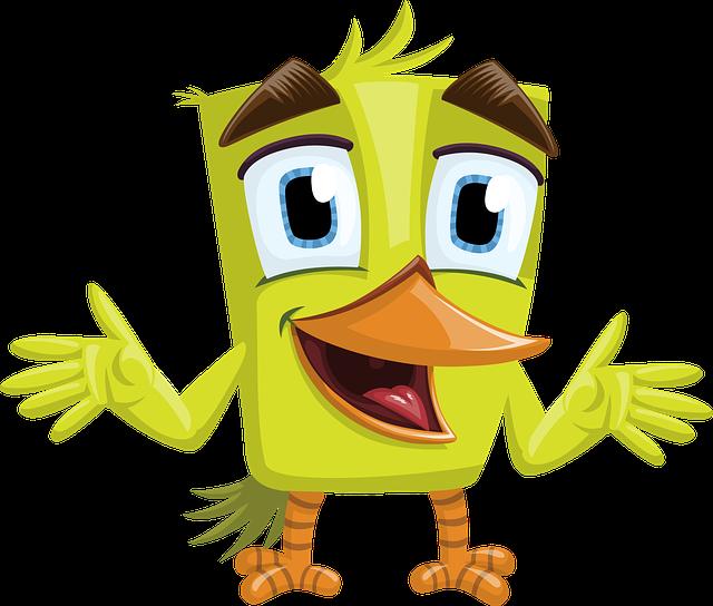 Bird, Green, Charming, Beak, Big Beak, Eyes, Hello