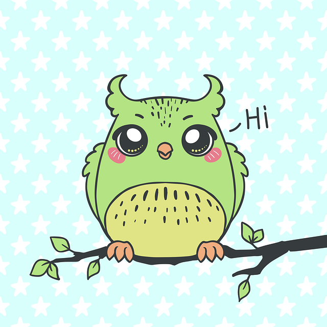 Owl, Bird, Branch, Animals, Character, Figure, Star