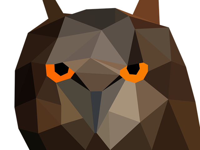 Owl, Bird, Low Poly, Funny, Colorful, Long Eared Owl