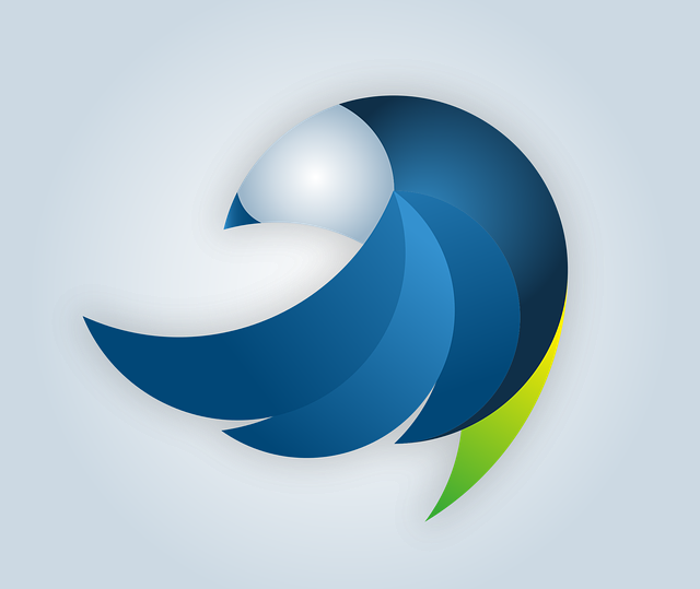 Logo, Bird, Vector, Swinging, Design, Abstract, Course