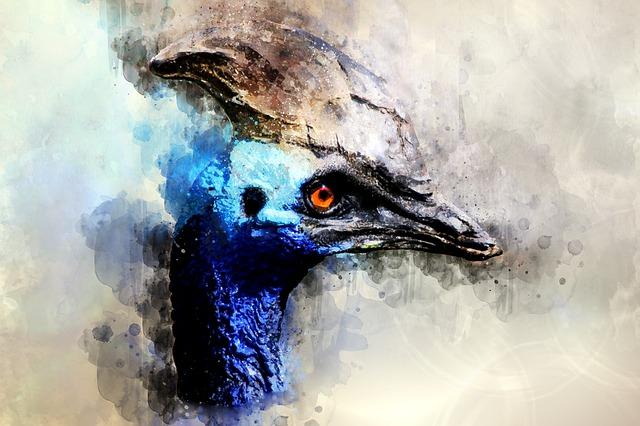 Bird, Blue Bird, Watercolor, Blue, Nature, Animal