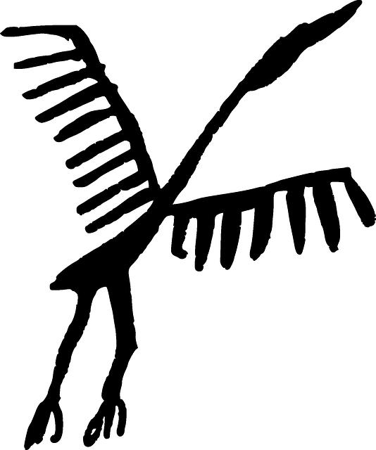 Bird, Primitive, Stork, Iberia, Petroglyph, Spain