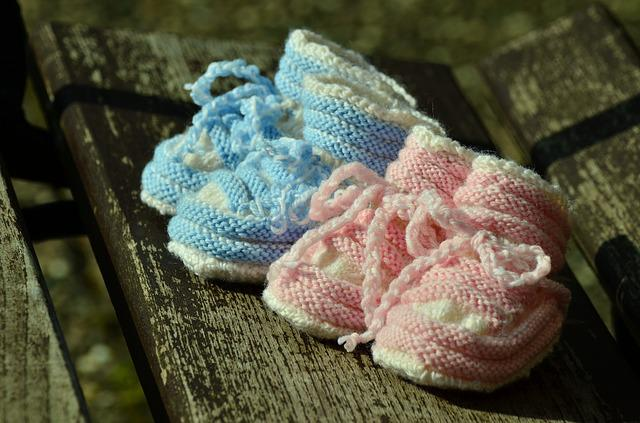 Baby Shoes, Birth, Greeting, Twins, Gift, Hand Labor