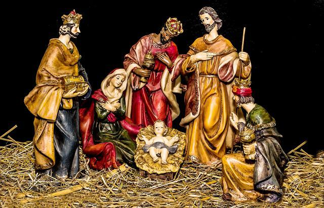 Christmas Crib Figures, Jesus Child, Birth Of Jesus