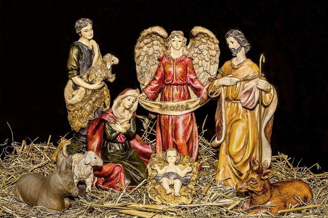 Christmas Crib Figures, Jesus Child, Birth Of Jesus