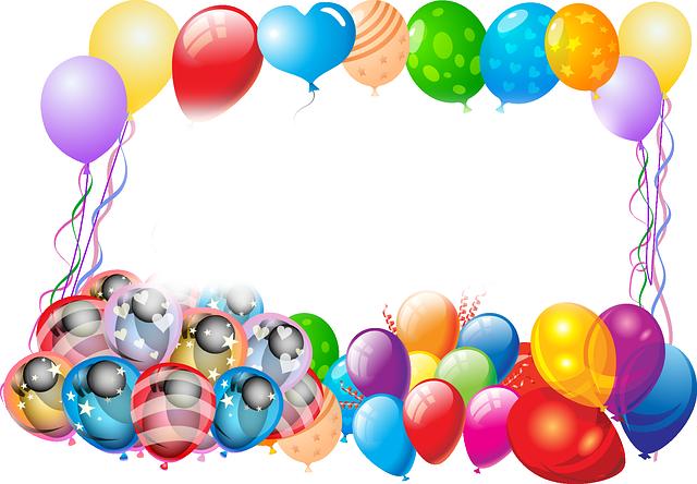 Balloons, Birthday, Greeting
