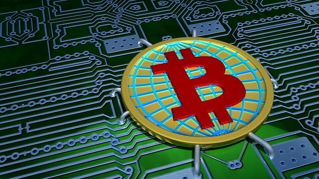 Bitcoin, Digital, Electronics, 3d, Blender