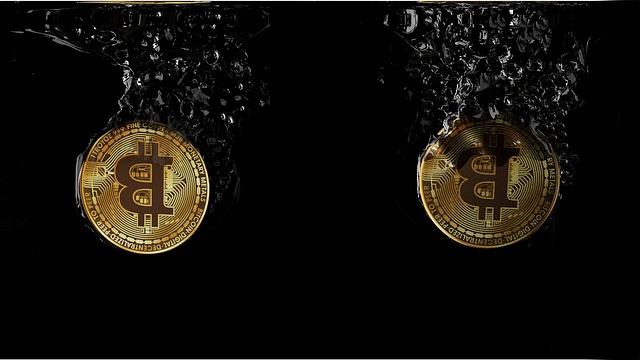 Bitcoin, Cryptocurrency, Splash, Water, Crypto