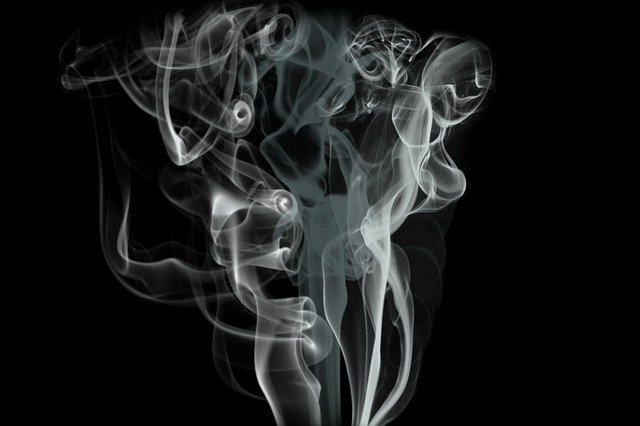 Abstract, Smoke, Background, Swirl, Fumes, Gas, Black