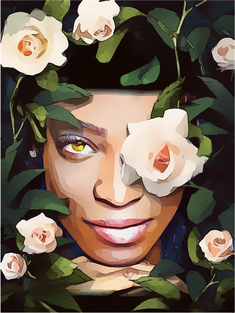 Lady, Roses, Fairy, Woman, Beautiful, African, Black