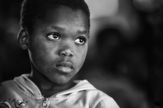 Boy, African, Black And White, Child, Kid, Young, Male