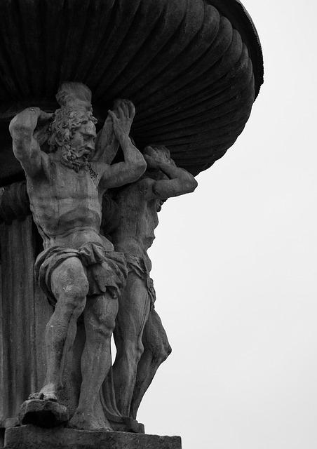 Fountain, Black And White, South Bohemia