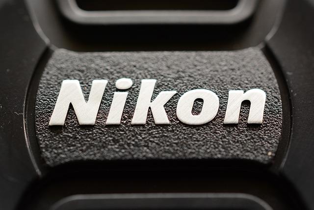 Nikon, Closeup, Black And White, Lens Cap, Logo