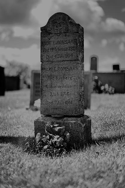 Cemetery, Grave, Tombstone, Black And White Photography