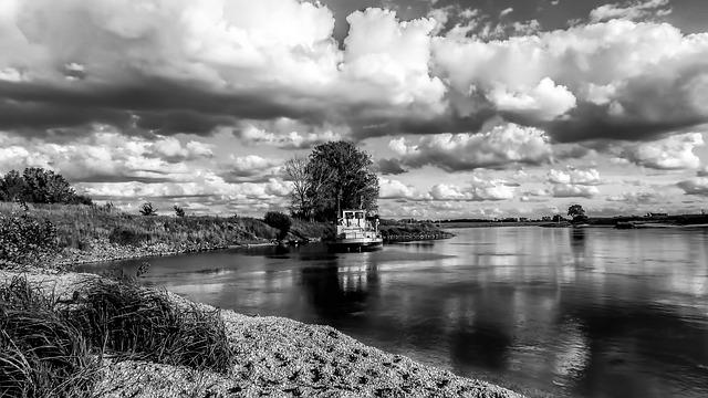 Waters, Black And White Photography, Nature, Panorama