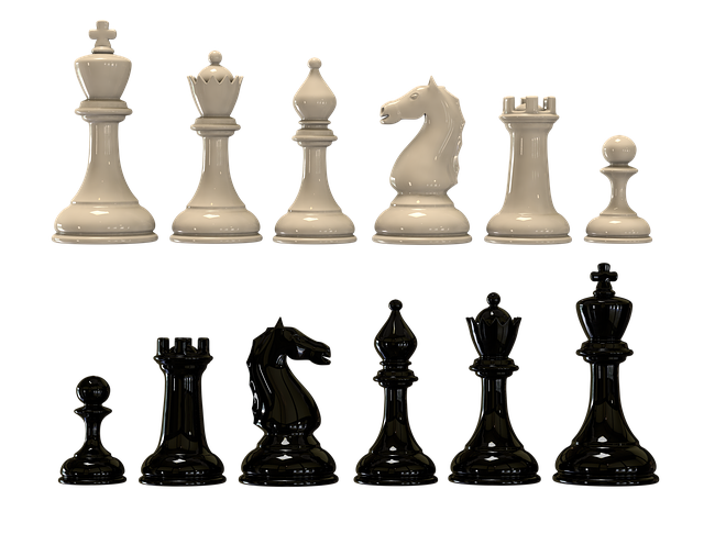 Chess, Black And White Pieces, Checkerboard