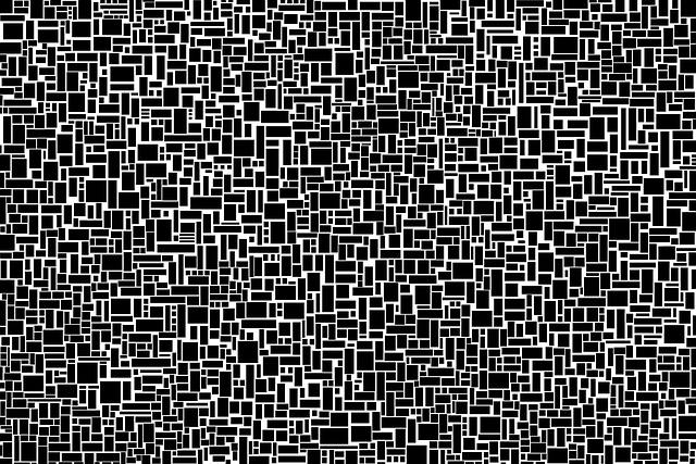 Random, Rectangle Pattern, Black And White