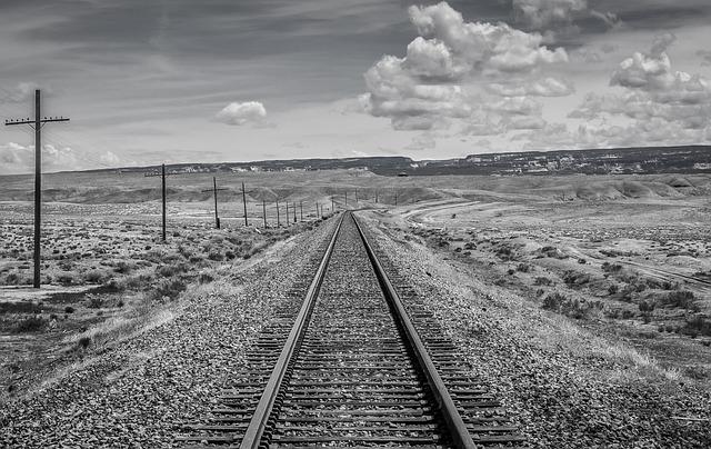 Black And White, Utah, Train Tracks