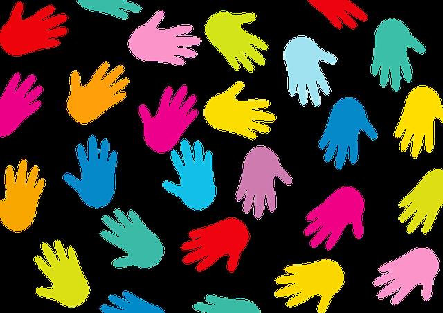 Hands, Background, Black, Colorful, Communication