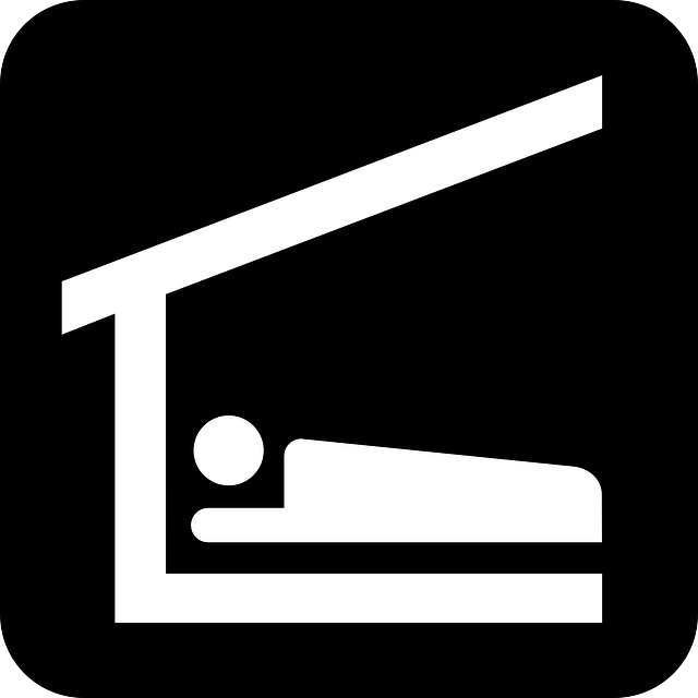 Bed, Sleeping Bag, Sleep, Stretcher, Roof, Hut, Black