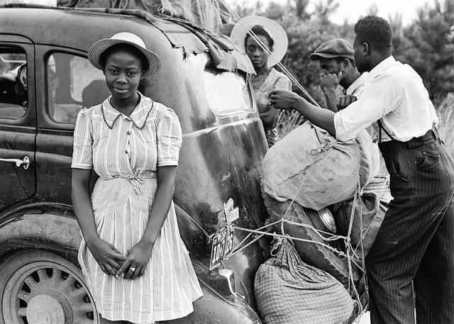 African-american, Man, Woman, Black, Family, Child, Car