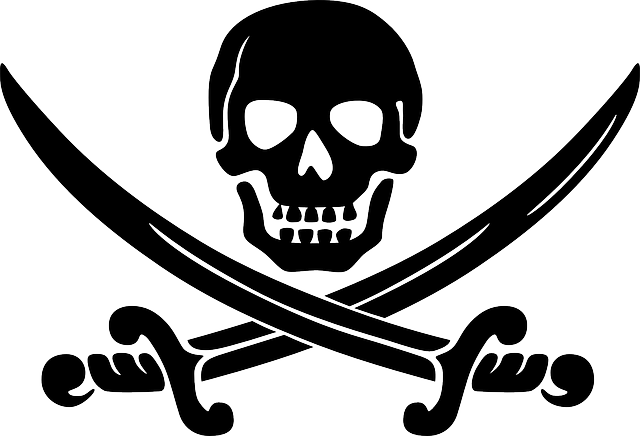 Skull, Swords, Crossed, Black, Coat Of Arms, Pirates