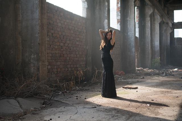 Portrait, Photography, Woman, Model, Black Dress