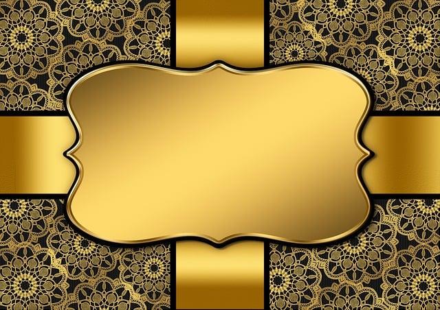 Background Image, Gold, Frame, Mandalas, Floral, Black