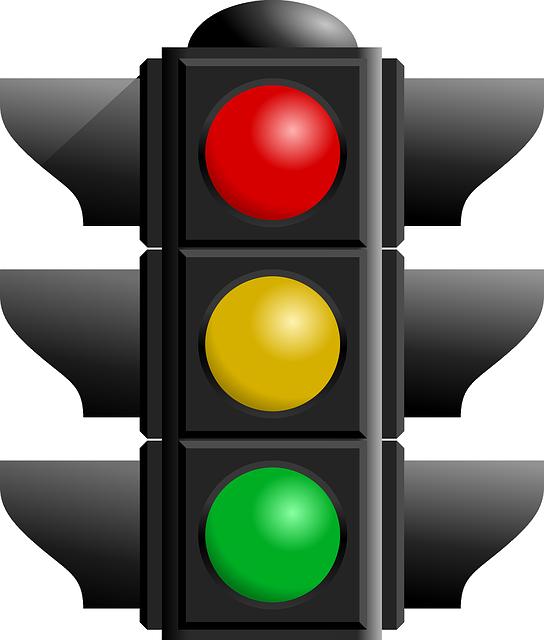 Traffic Light, Red, Black, Green, Yellow, Traffic