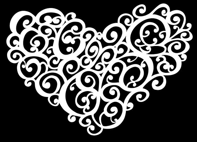 Abstract, Art, Black, Decorative, Heart