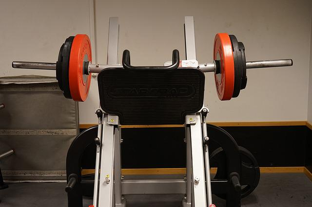 Leg Press, Weights, Machine, Dumbbells, Training, Black