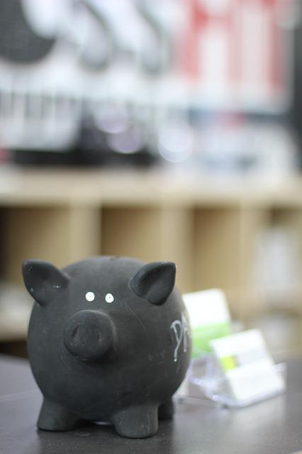 Piggy Bank, Black, Save, Money