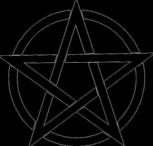 Pentagram, Black, Magic, Pagan, Pentacle, Symbol, Wicca