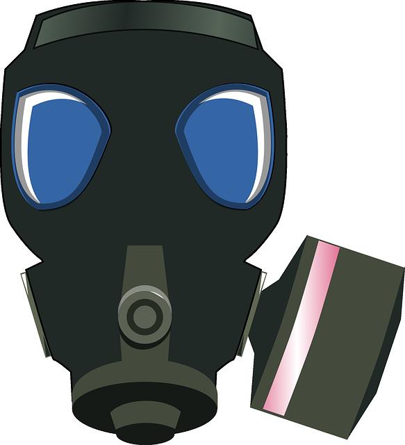Gas Mask, Black, Protection, Safe, Breathe